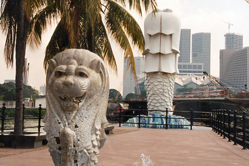 Der Merlion in Singapur