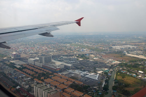 Anflug auf Don Mueang