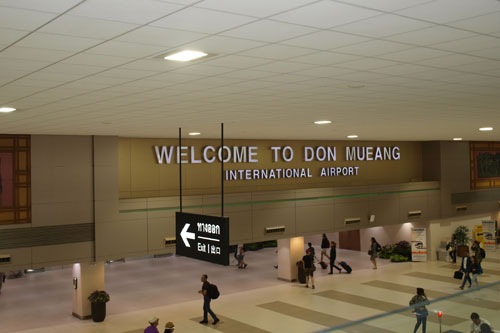 Ankunft in Don Mueang